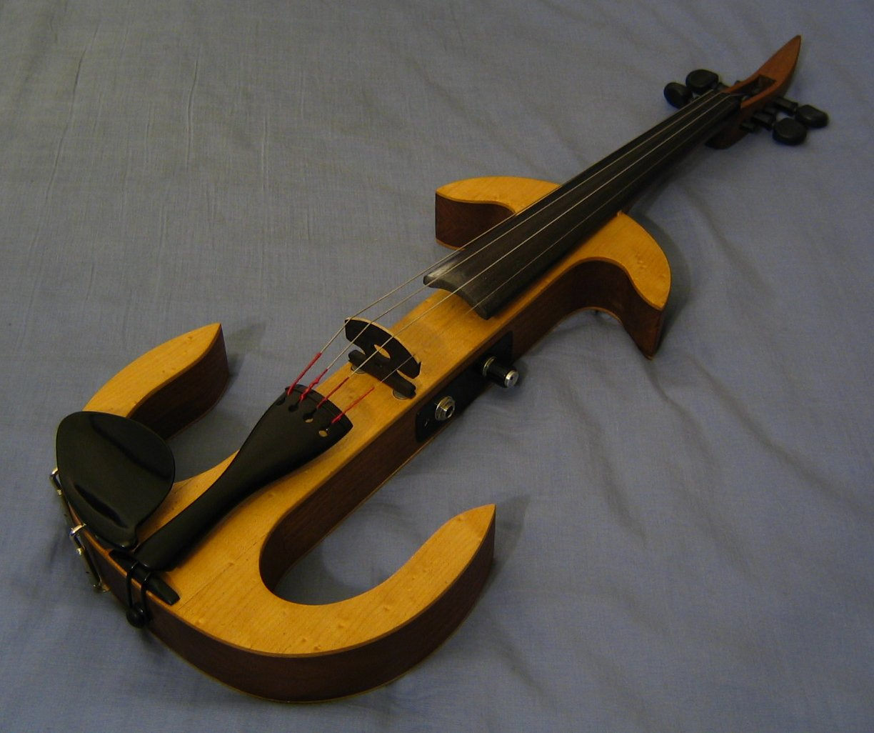 Photograph of a homemade electric violin